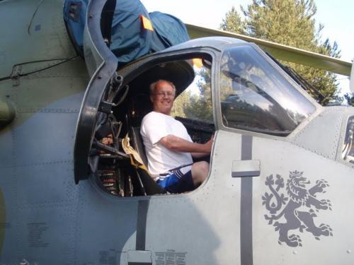26. 5. 2009 Vojenský vrtulník na Lamberku